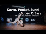 Kuzya, Pocket, Sunni vs Super Cr3w [finals] // .stance x udeftour.org // Silverback Open 2016
