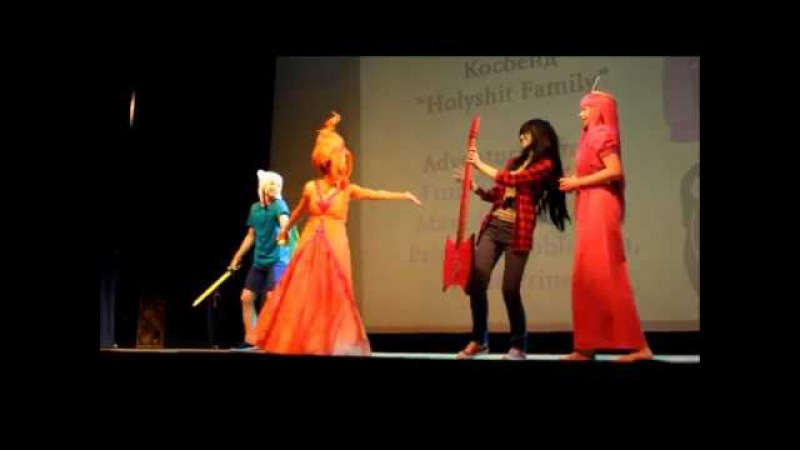ComXFest 2017 Cosplay: Adventure Times (Finn, Marceline, Princess Bubblegum, Flame Princess)