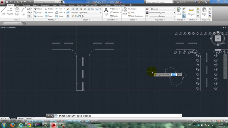 Yakın Kampüs AutoCAD Ders 35 Path Array Örnek