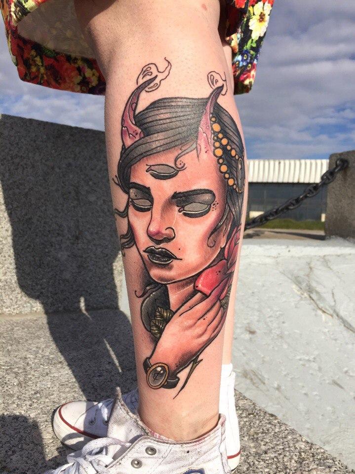 Художественная татуировка «Демон». Мастер Руслан Тавакалов