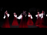 Russian folk dance in Siberia. Artists of LED show
