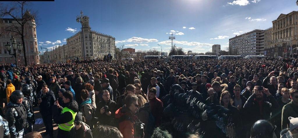 митинг 26 марта в Москве ДимонОтветит