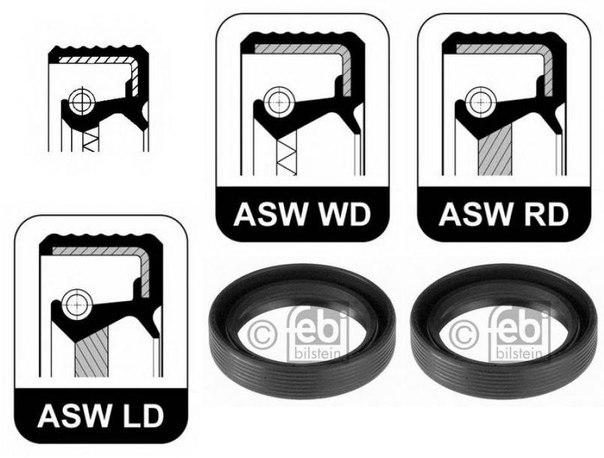 Уплотняющее кольцо, коленчатый вал для AUDI QUATTRO (85)