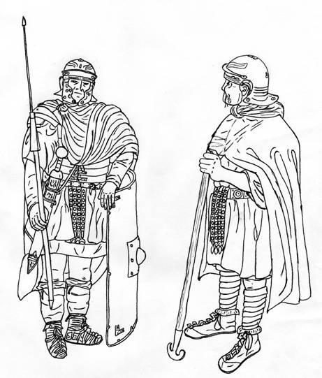 Римская униформа для холодного климата.
