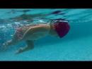 Первый день самостоятельного плавания. Николь 2 года.