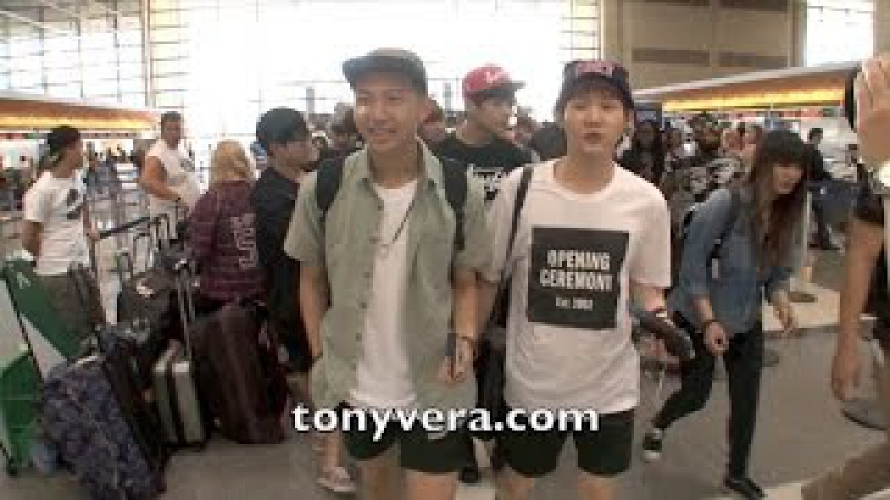BTS with Kpop stars at LAX