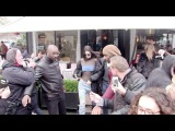 Kendall Jenner and Jaden Smith coming out of the Avenue restaurant in Paris