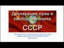 Кон СССР Декларация прав и свобод человека