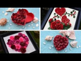 DIY Valentine's Day Gift Ideas with Paper Roses and Quilling Tutorial