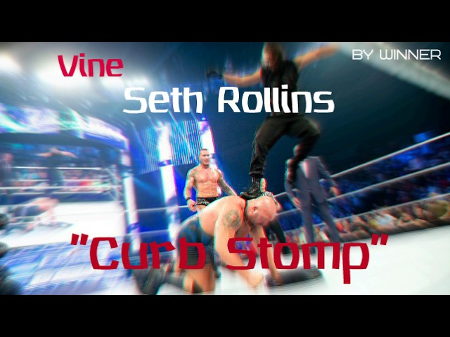 Vine by Winner | WWE Seth Rollins - Curb Stomp