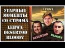 21 Угарные моменты со стрима LeBwa DeSeRtod и Bloody