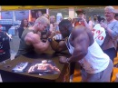 Bodypower Expo UK Blessing awodibu arm wrestle Zac Ansley