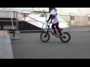BMX Fakie riding 10 consecutive times success8yr old girl -女の子向けのBMXトリック(フェイキー編)-
