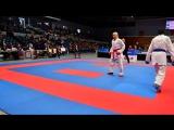 Джиана Лотфи (EGY) - Эмма Аронен (FIN) -  Премьер-Лига Karate1 2016: Гамбург
