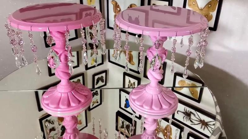 СофиШерон хрустальный набор в розовом Анэстэси