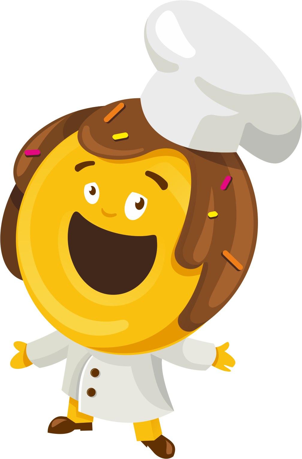 """Пончики """"Happy Donuts"""" от 1,58 руб./шт., 8 пончиков + 4 кофе за 15 руб."""