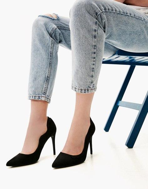 Туфли на каблуке-шпильке, с волнистым эффектом