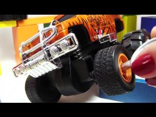 Видео про машинки׃ Джип Animal Car Dickie toys׃ Меняем резину׃ Развивающие игрушки для детей