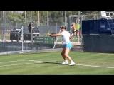 Victoria Azarenka practice at Mallorca Open