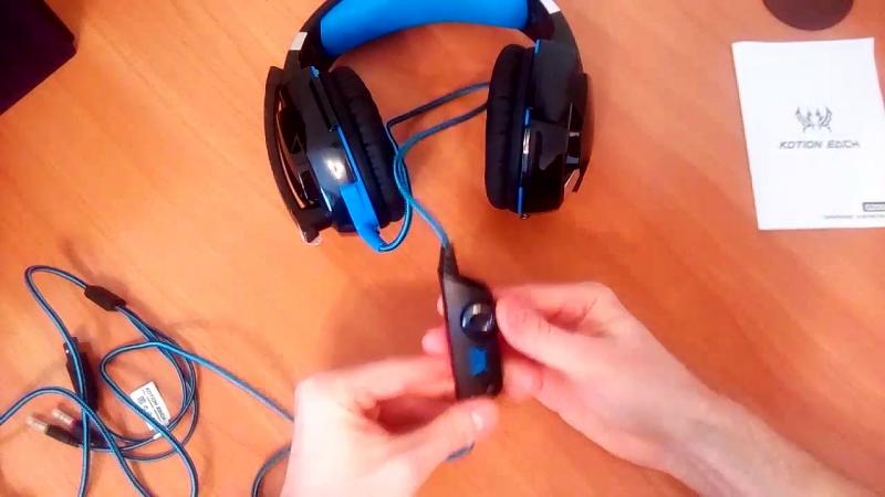 Обзор игровых наушников Kotion Each G2000 Pro Gaming с микрофоном и подсветкой