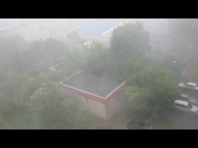 Ливень в Брянске. Буря, шторм, ветер.