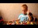 Киндер сюрприз игрушки много сюрпризов Играем машинками и пружинками