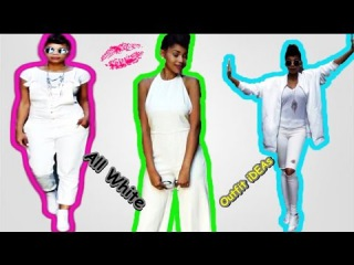 All WHITE LOOKBOOK| Outfit iDEAs January 2017