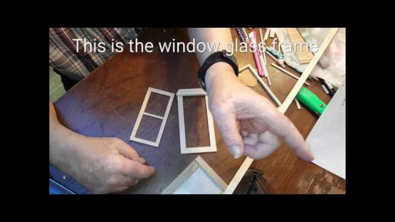DIY Miniature Dollhouse Window Build