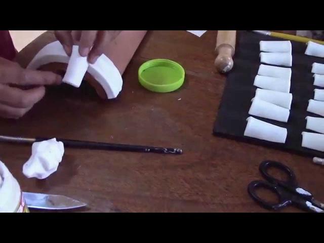 Teja Decorada Paso 2 Techo en Porcelana Fría