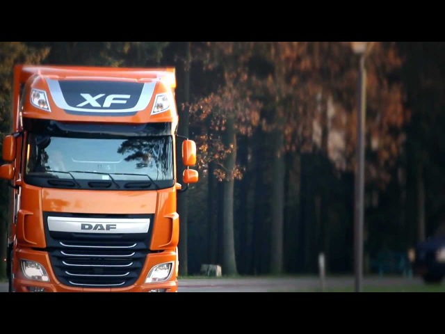 DAF XF press demos leaving for Malaga