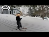 2 year old skiing his first powder day! I'm not sure who was having more fun, him, or me!