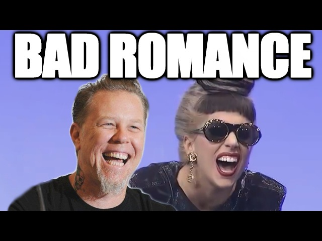 Metallica's James Hetfield and Lady Gaga - Bad Romance (Grammy LaughCover)