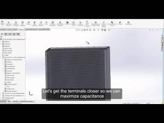 High Voltage Capacitor Design on COMSOL