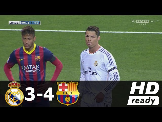 Real Madrid vs Barcelona 3-4 (Liga BBVA) - All Goals Extended Highlights - 23/03/2014 HD