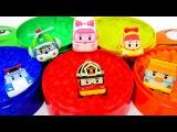 Video per bambini in italiano. Impara i colori. Robocar Poli e Orbeez balls