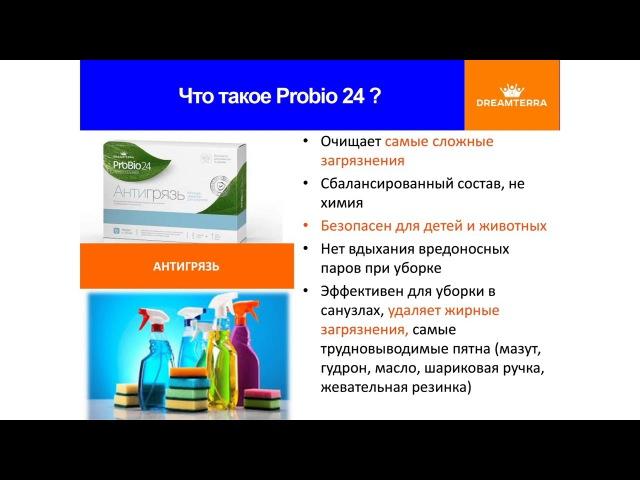 Антигрязь серии ProBio24 концентрированный пятновыводитель от компании DREAMTERRA