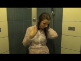Sexy hot and wetook girl bathing in pool and shower in her s