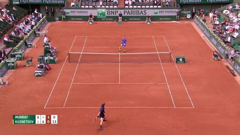 Теннис. Ролан Гаррос. Кузнецов проиграл Маррею в первом круге Открытого чемпионата Франции