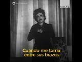 Эдит Пиаф (1915-1963) поет свою классический