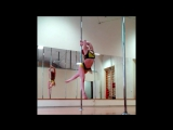 Lyudmila Bukrina - Pole dance combos and tricks 2017, White Edition, part 2 | Kats dance studio