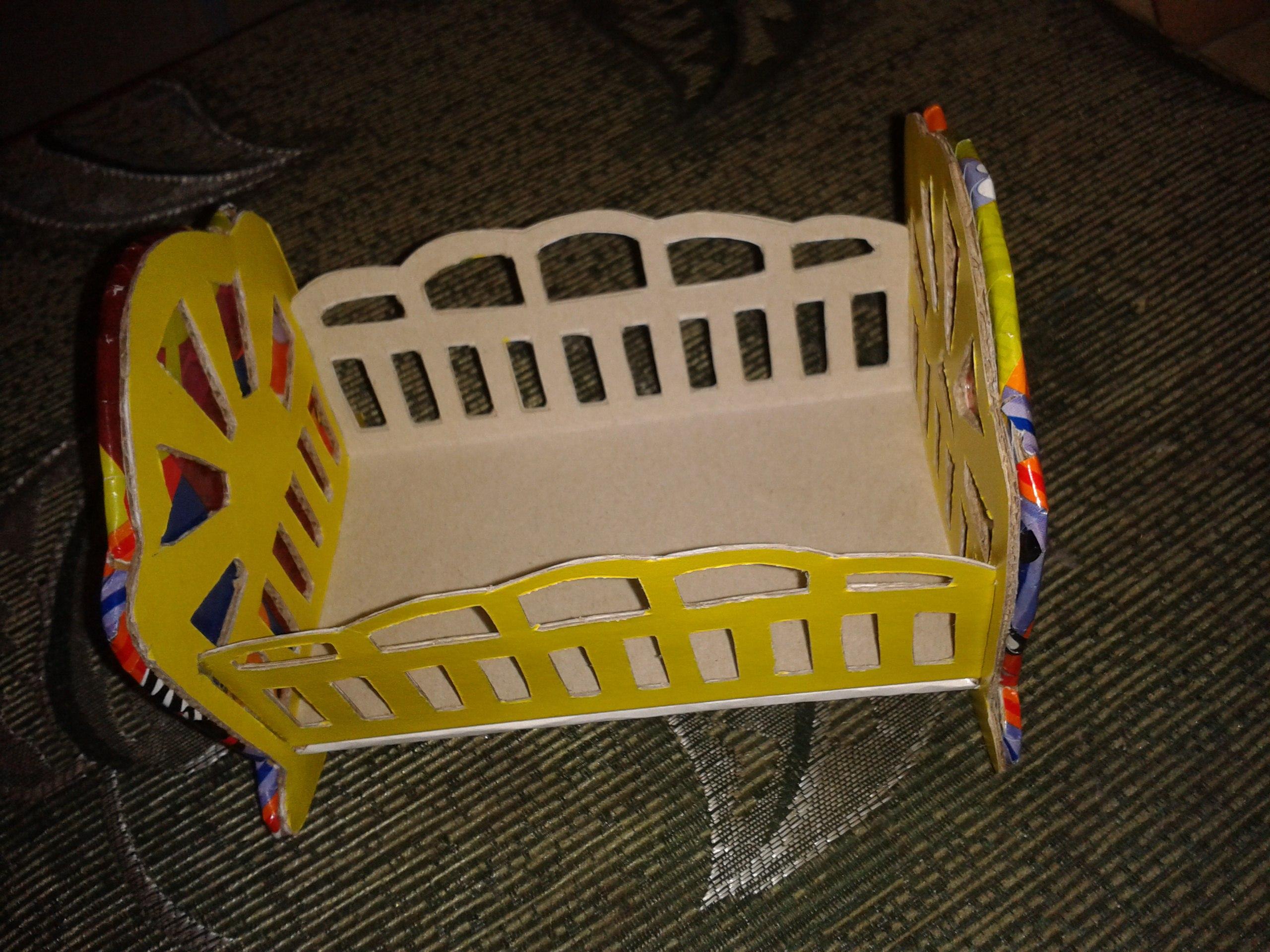 Кроватка-колыбелька для пупсика МК (продолжаем создавать мебель для кукол своими руками)