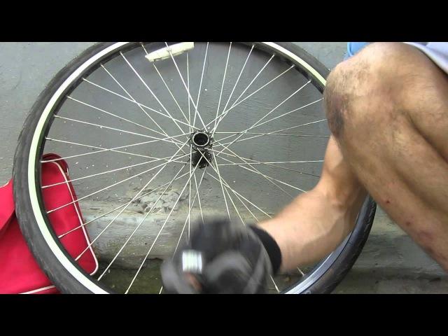 Установка промышленных подшипников на переднюю втулку велосипеда.
