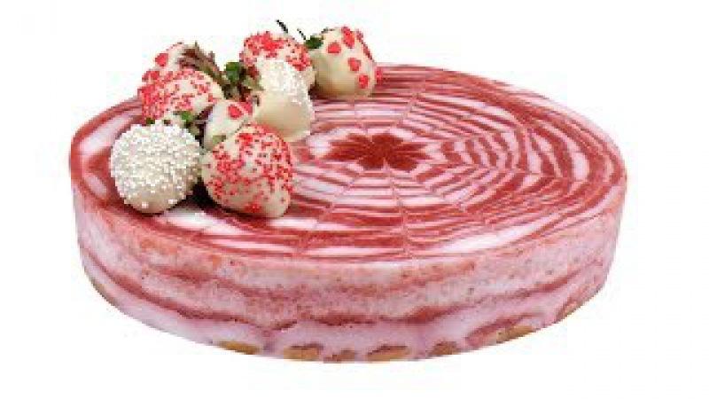 Йогуртовый торт без выпечки. 150 ккал в 100 граммах торта.