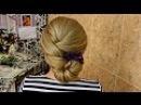 Праздничная прическа на средние и длинные волосы