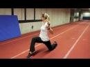 Leichtathletik Hürden Sprint und hürdenspezifische Beweglichkeit