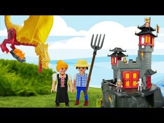 Eğlenceli erkek çocuk videosu. Kale, ejderha, kral ve mücevher oyunları Türkçe izle!