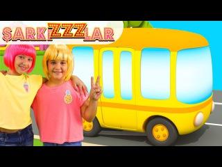 Sarı otobüs – çocuk şarkısı. Şarkızzzlar. Polen ve Sema ile müzik video çocuklar için