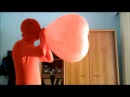 Blow & Accidental pop Cattex 24 inch heart-shape balloon