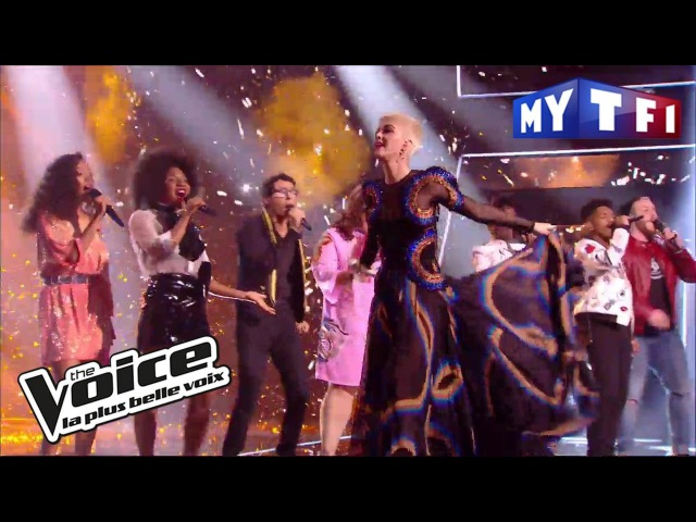 Katy Perry et les talents de The Voice « Chained to The Rhythm » | The Voice France 2017 | Live