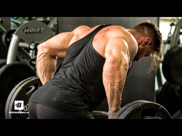 Дилан Томас (атлет бренда MuscleTech). Высокообъемная тренировка спины на сушке (без перевода)